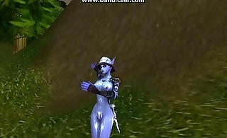 Void Elf dancing in celebration of getting an emerald whelpling