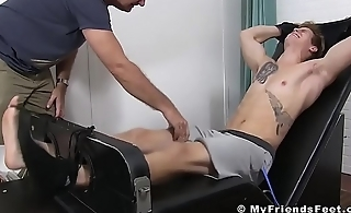Blond jock Jonathan headed on touching and tickled into submission