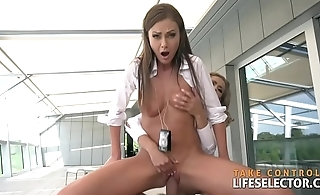 Corrupt cop fucks hot FBI agent girs increased by gangster chicks POV