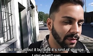 Young Straight Spanish Latino Tourist Fucked For Cash Outside Away from Gay Sexual congress Documentary Filmmaker