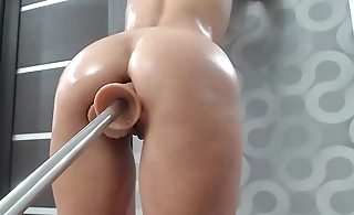 holy shit this horny babe playing with her fucking machine