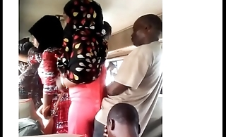 African Chikan -getting ass on the bus
