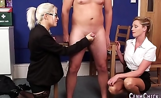 Cfnm blondes hither berth