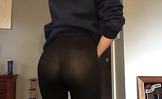 Cute boy in leggings