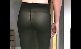 Pantyhose try on