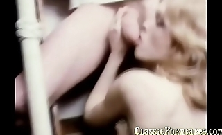 Vintage porn at its best with two hot babes