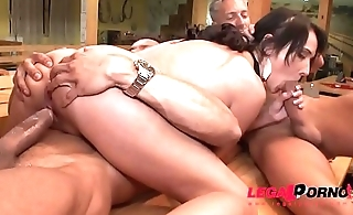 Angie Moon horny girlfriend goes bowling 6on1 DP