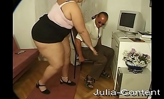 She is fat, blonde and horny for sex