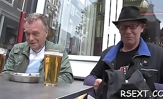 Lascivious man pays some amsterdam hooker for boiling sex