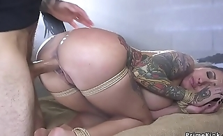 Zippered alt babe anal fucked in cell