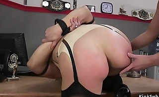Wrestler anal fucks tied up opponent