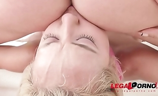 Veronica Leal roughed up &amp_ double penetrated by four men