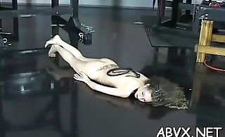 Big tits hotties bizarre bondage non-professional porn play