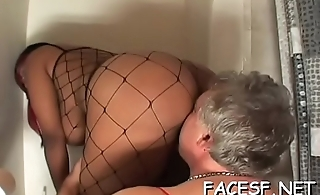 Hot gal gets her ass licked and fingered while engulfing