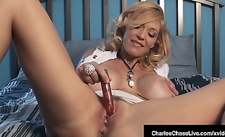 Adult Milf Charlee Chase Vibrates Her Clit Until She Cums!