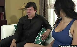 Slutty latina daughter fucks her step dad
