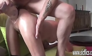 XXL double fist plus dildo fucking both her holes