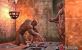BRUTAL ORGY IN THE DUNGEON. No one knows about Selina'_s passion. 3D animation