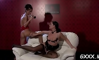 Stunning hottie gets out camera to film lover using toy
