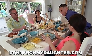 DON'_T FUCK MY DAUGHTER - Lucie Kline Takes Anal On Thanksgiving From Her Dad'_s Friend