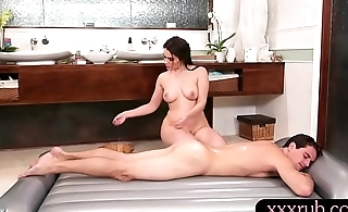 Big tits masseuse fucked by oversexed client