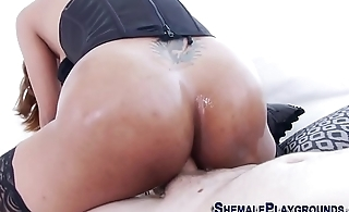 Raw riding ebony tranny