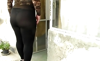 Behold trough thong milf leggins big pain in the neck